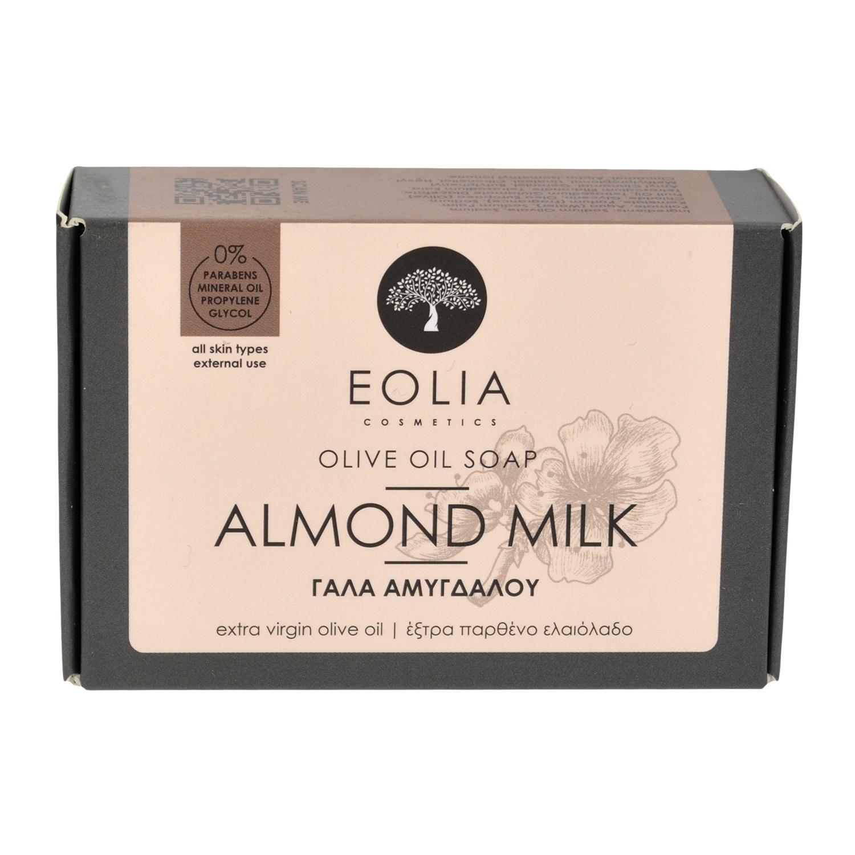 Σαπούνι ελαιολάδου με βαλσαμέλαιο και Γάλα Αμυγδάλου 100 gr από την Eolia Cosmetics