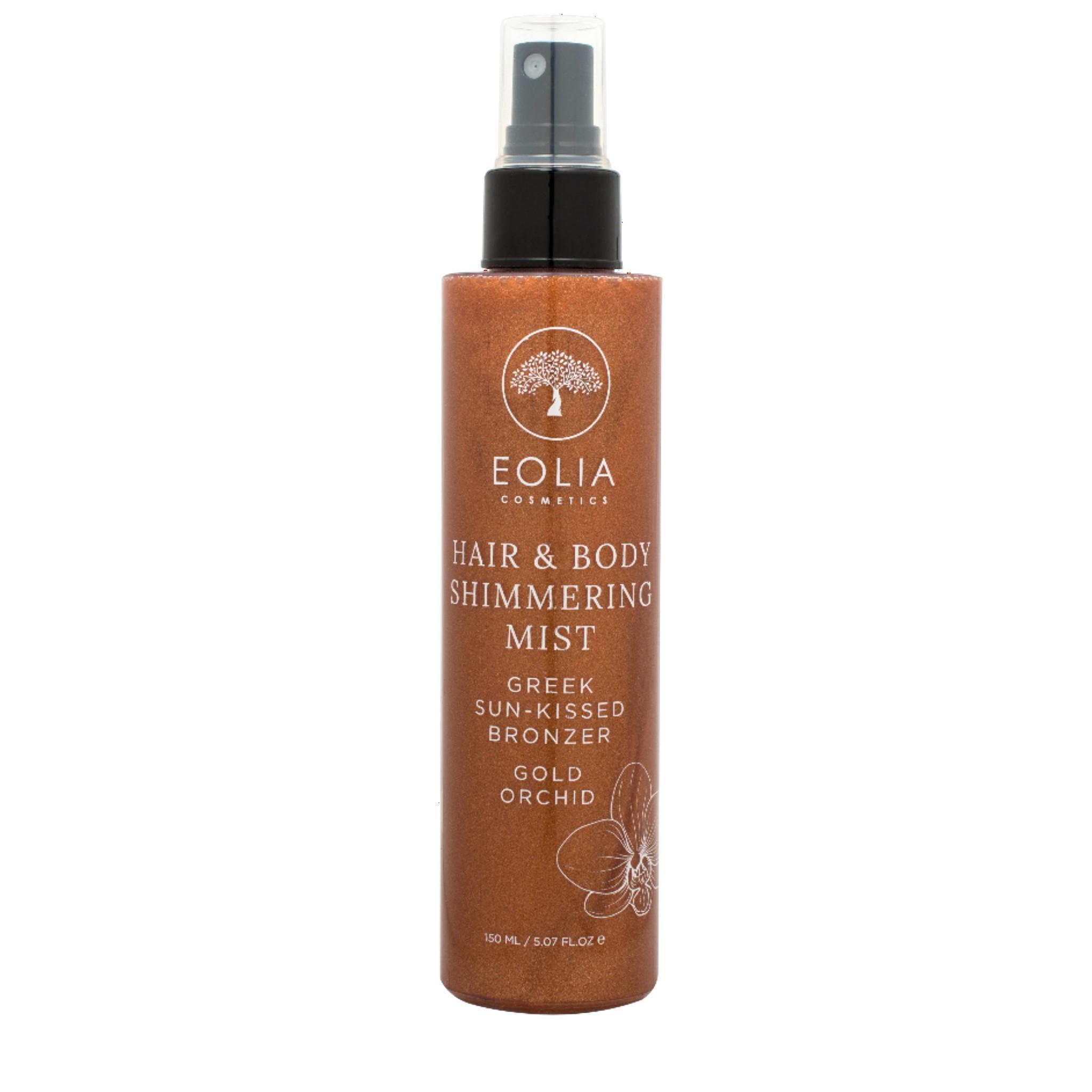 Hair & Body Shimmering Mist με άρωμα Χρυσής Ορχιδέας 150ml, από την Eolia Cosmetics